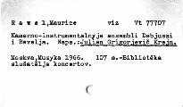 Kamerno-instrumentalnyje ansambli Debjussi i Ravel