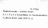 Music in Czechoslovakia