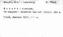 Mozart-Almanach