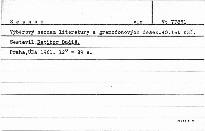 Výběrový seznam literatury a gramofonových desek