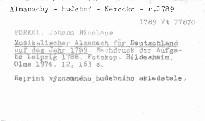 Musikalischer Almanach für Deutschland auf das Jah