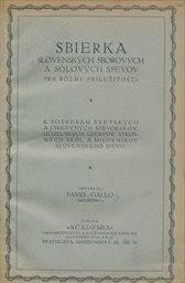 Sbierka slovenských sborových a sólových spevov pre rôzne príležitosti