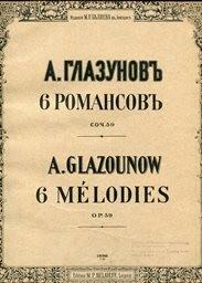 6 romansov, op.59