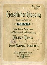 Geistlicher Gesang aus einem Miserere