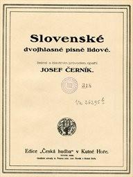 Slovenské dvojhlasné písně lidové