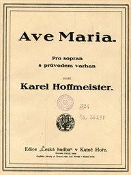 Ave Maria pro sopran s prův. varhan