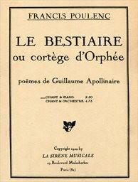 Le bestiaire ou cortege d'Orphée