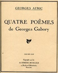 Quatre poëmes de Georges Gabory