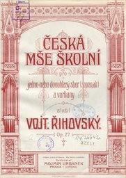 Česká mše školní