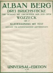 3 Bruchstuecke aus der Oper Wozzeck
