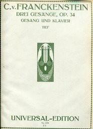 3 Gesänge, op. 34