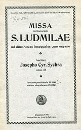 Missa in honorem s.Ludmilae