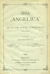 """Missa """"Angelica"""" ad 4 voces inaequales cum organo"""