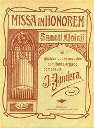 Missa in honorem Sancti Aloisii ad 4 voces aequale