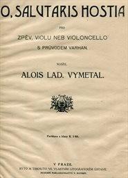 O, salutaris hostia pro zpěv, violu nebo violoncel