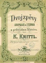 Dvojzpěvy, op.6 pro sopran a tenor s prův. klavíru