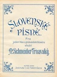 Slovenské písně pro 1 hlas s prův. klavíru