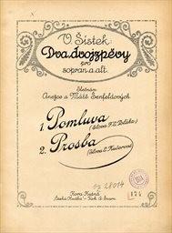 2 dvojzpěvy op.5 pro sopran a alt /s prův. piana/