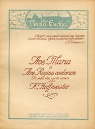 Ave Maria a Ave Regina coelorum pro 1 hlas s prův.
