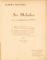 6 mélodies avec acc. de piano