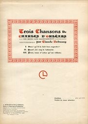 Trois chansons de Charles d'Orléans