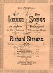5 Lieder. Op. 39, No. 1
