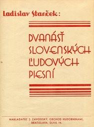 12 slovenských ludových piesní pre stredný hlas a klavírový sprievod