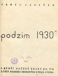 """""""Podzim 1930"""""""