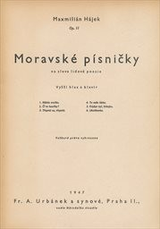 Moravské písničky na slova lidové poesie