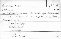 5 Gesänge am H. Laube's Jagdbrevier für 4 stimmigen Männerchor, op. 137