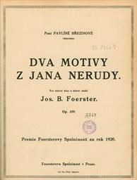 Dva motivy z Jana Nerudy