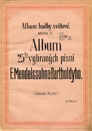 Album 25ti vybraných písní F. Mendelssohna-Bartholdyho