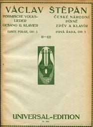 České národní písně op. 3