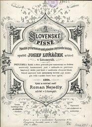 4 slovenské píně pro dva hlasy s prův. harmonia