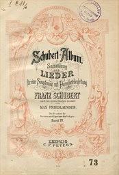 Gesänge für eine Singstimme mit Klavierbegleitung
