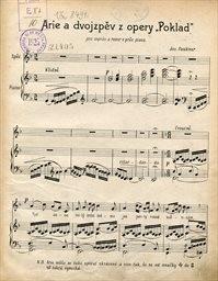 """Arie a dvojzpěv z opery """"Poklad"""""""