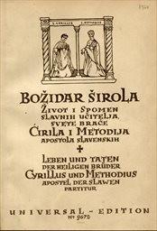Život i spomen slavnich učitelja svete brače Ciril