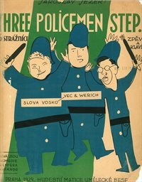 Three policemen step