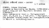 Allgemeine Geschichte der Musik                         (Band 1)