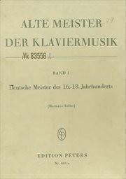 Alte Meister der Klaviermusik                         (Band I)