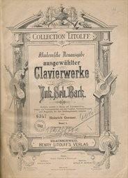 Ausgewählter Clavierwerke                         (Band 1)