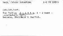 Joh. Seb. Bach