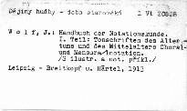Handbuch der Notationskunde
