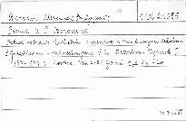 Pisma A.P.Borodina