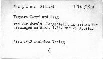 Wagners Kampf und Sieg
