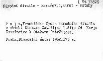Opera Národního divadla v období Otakara Ostrčila