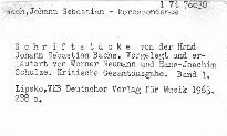 Schriftstücke von der Hand Johann Sebastian Bachs