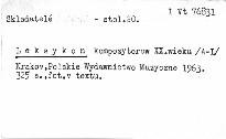 Leksykon kompozytorów XX wieku