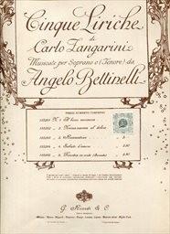 5 liriche di Carlo Zangarini