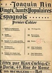 20 chants populaires espagnols